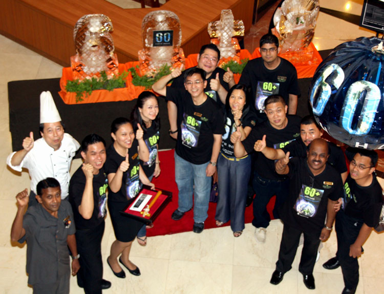 The team at Dorsett Regency Kuala Lumpur during the launch of Earth Hour 2012.