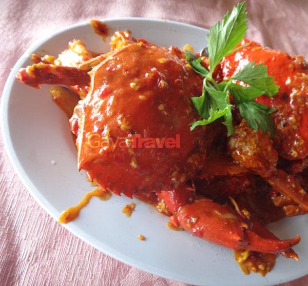 Batam - The Golden Prawn 555 Restaurant - Chilli Crab