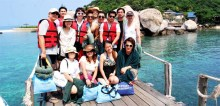 Group photo taken by one of the medias in Koh Nangyuan