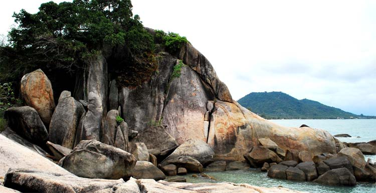The View from the unusual shaped rocks