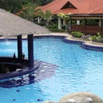 The beautiful swimming pool that surely awaits its guests