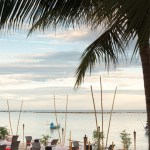 Koh Samui's beautiful sunset while munching on dinner