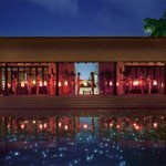 The Lobby Pond - Le Meridien Koh Samui Resort & Spa daily celebration of the day ritual.