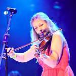 The music from her fiddle as calm as her face