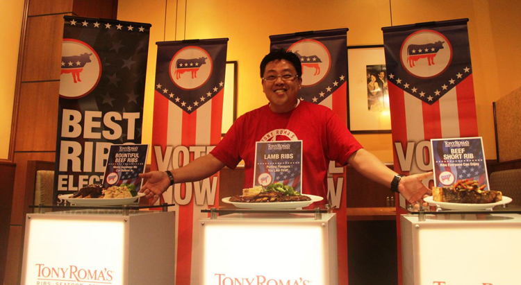One Rib to rule them all, the Best Ribs Election Showdown at Tony Roma's!