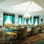 The exclusive interior of Seri Perdana