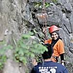 Rock-climbing is one of the activities at Etnobotany Park in Gua Musang