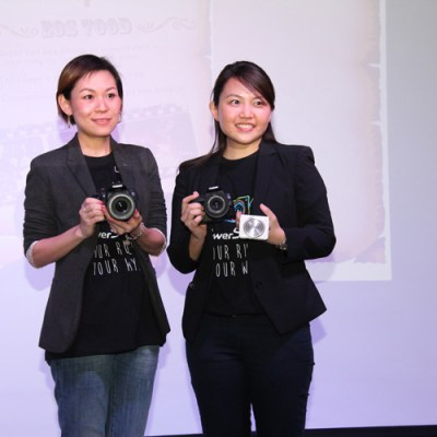 Joey and Nicole with the Canon EOS 700D, 100D and PowerShot N