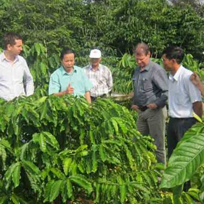 UTZ Certified. Climate experts and coffee farmers share information. Lam Dong, Vietnam