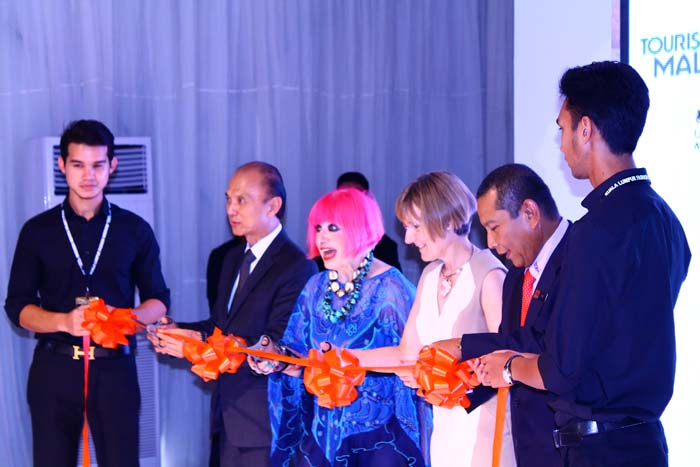 Ribbon cutting ceremony with Yang Berbahagia Dato' Jimmy Choo and the British High Commission and Tourism Malaysia