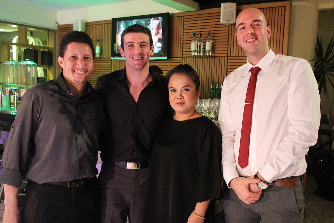 Mr. Thomas Colbert (second from left) with Novotel KLCC resident band, Triple Treat