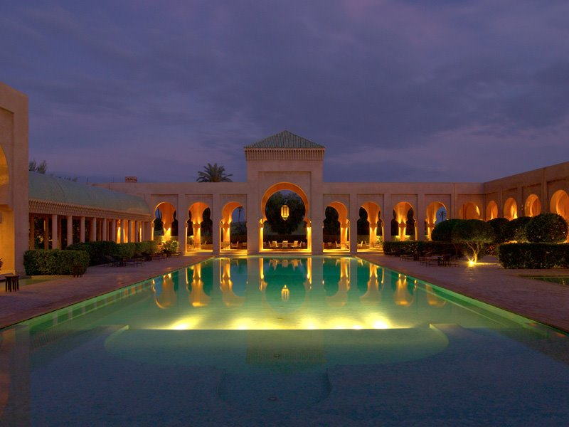 Amanjena - Marrakech, Morocco - The Swimming Pool at night