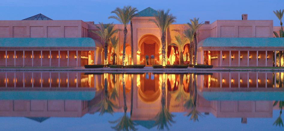 Amanjena - Marrakech, Morocco - The Central Basin at Night