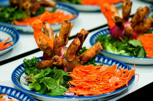A dish from a royal dinner in Hue, Vietnam
