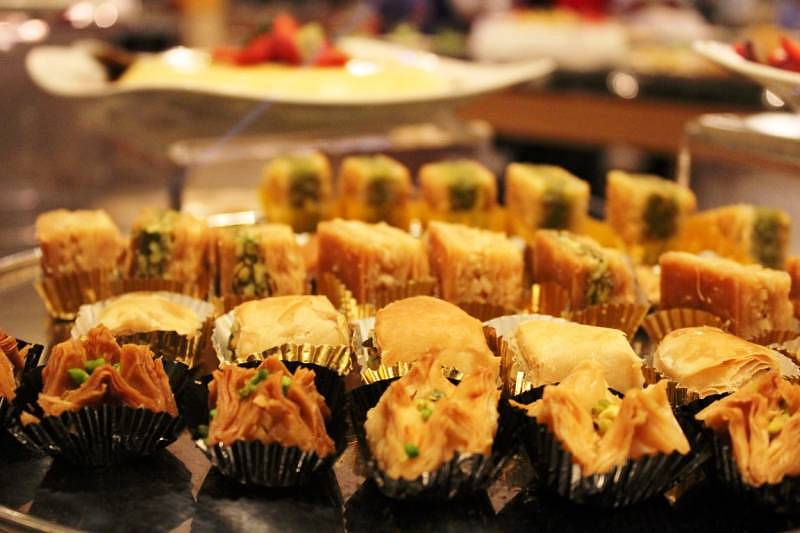 "Delectable desserts await diners at the ""Seribu Satu Malam"" buffet"