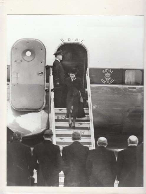 Her Majesty The Queen returs to London Heathrow February 1952 (C) British Airways