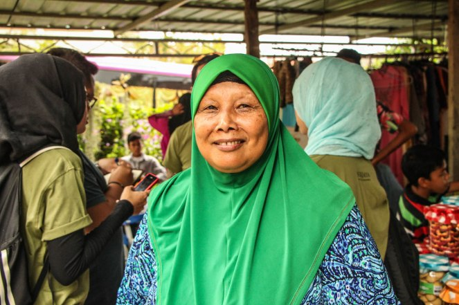 Siti Sarimah, the owner and care taker of the home.