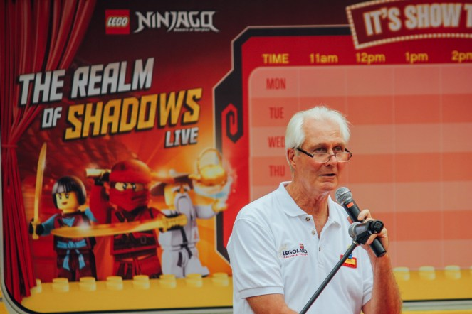 Mark Germyn, General Manager of LEGOLAND Resort Malaysia giving his welcoming speech.