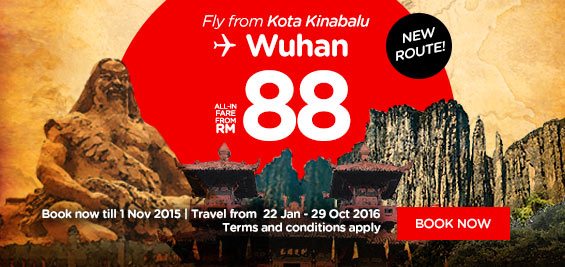 AirAsia​ expands reach into China with new direct route from Kota Kinabalu to Wuhan