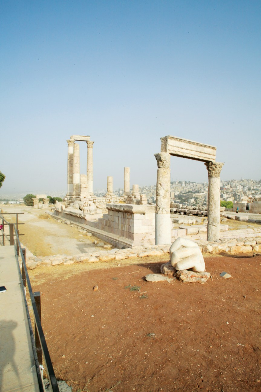 Ancient columns remain steadfast in Amman Citadel