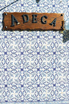 Typical azulejo tilework that can be found around Lisbon.