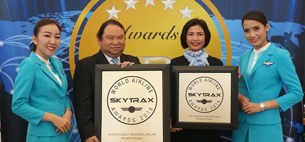 "Bangkok Airways is now ""World's Best Regional Airline 2016"" and ""Best Regional Airline in Asia 2016"" According to Skytrax"