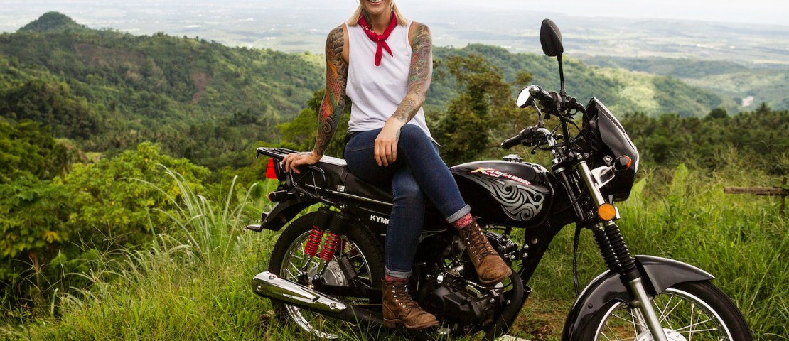 Jaime Dempsey rides around the Philippines in Ride 'N Seek Season 4 on HISTORY Channel