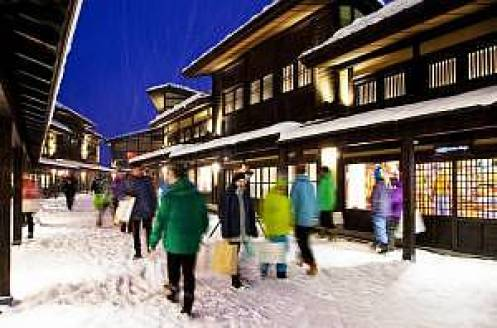 The central pulse of Niseko Village offering a unique shopping and dining experience