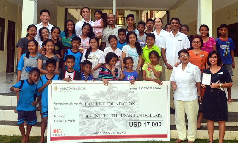 IHG® Foundation Gives Bali Life Foundation a Grant of US$17,000 to Support the Underprivileged