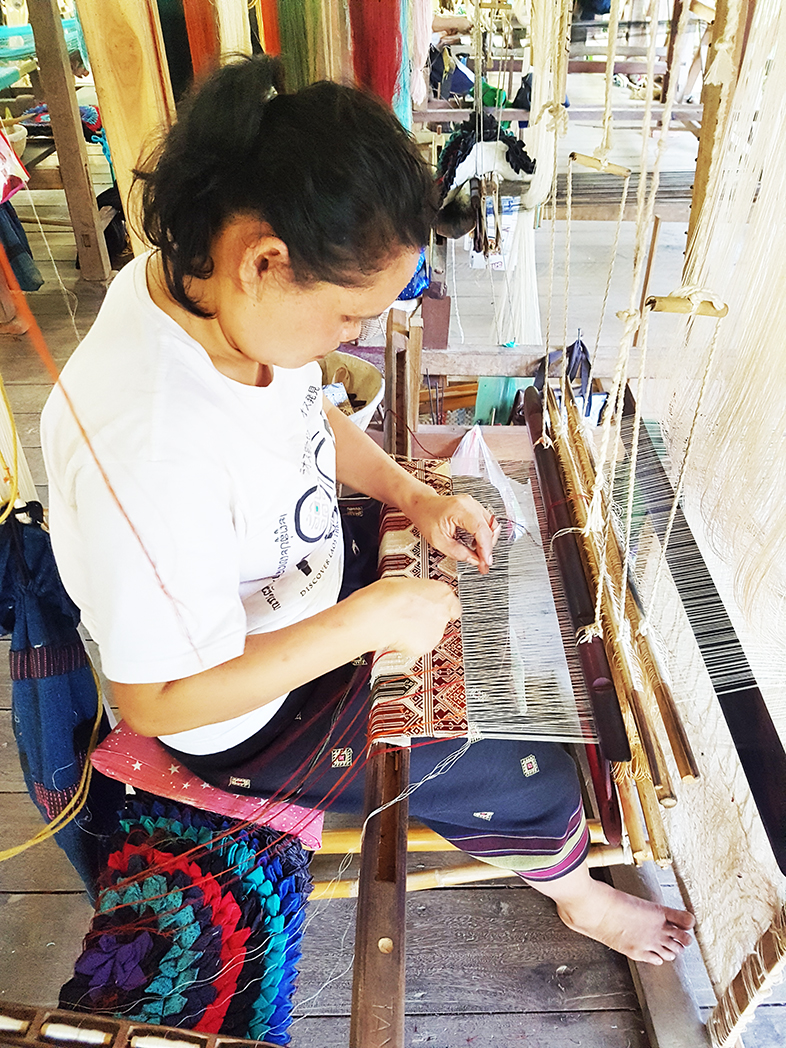 The art of weaving and dyeing Lao silk at Ock Pop Tok