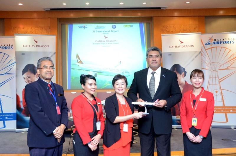 Cathay Dragon Welcomes Inaugural Flight to Kuala Lumpur