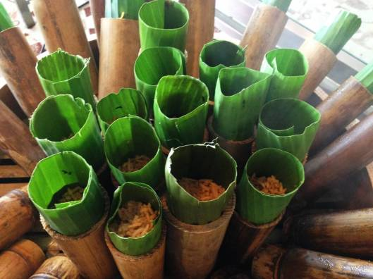 authentic briyani cooked in bamboo
