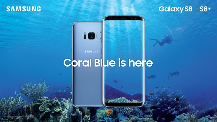 Samsung Galaxy S8 I S8+ Coral Blue is Here