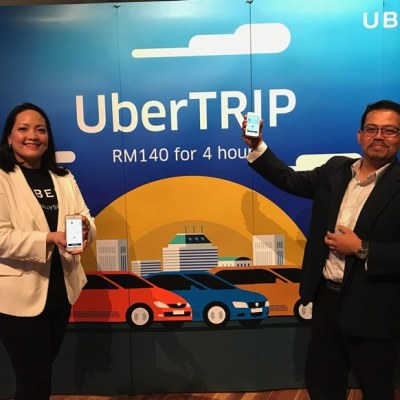 Uber partners with Destination Perak to offer UberTRIP. (L-R) Karina Ali Noor, General Manager for Expansion, Uber Malaysia and Hisham Yusof, Head of Sales and Marketing, Destination Perak