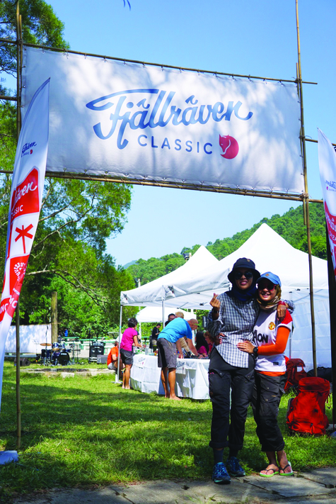 Norcha and I were among the earliest trekkers to arrive at the finish line