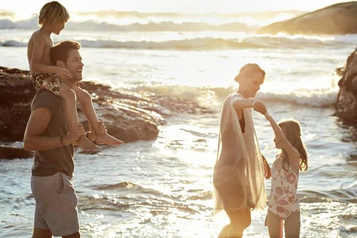 The Westin Langkawi-Family Walking on Beach-Med
