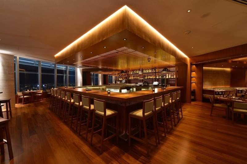 The bar at Nobu Kl