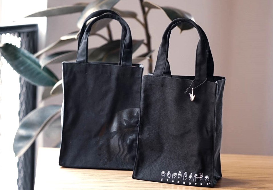 Starbucks Signing Store Tote Bag (With Charm)