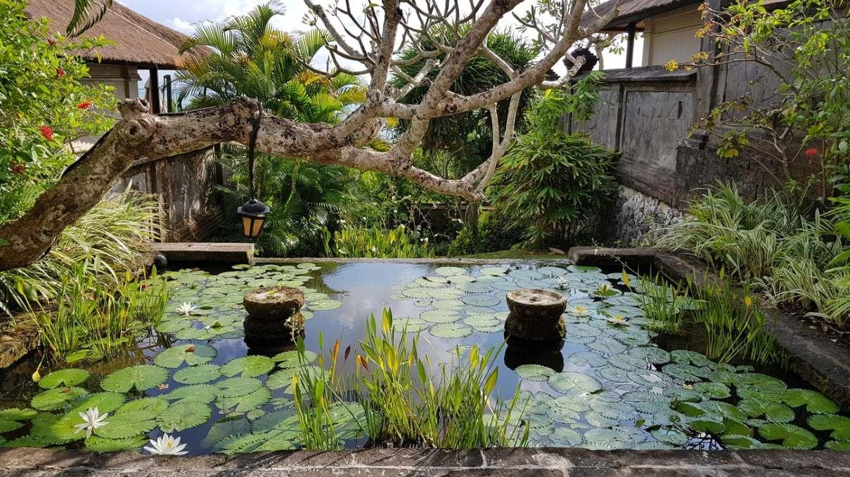 Walking around Four Seasons Bali at Jimbaran Bay.
