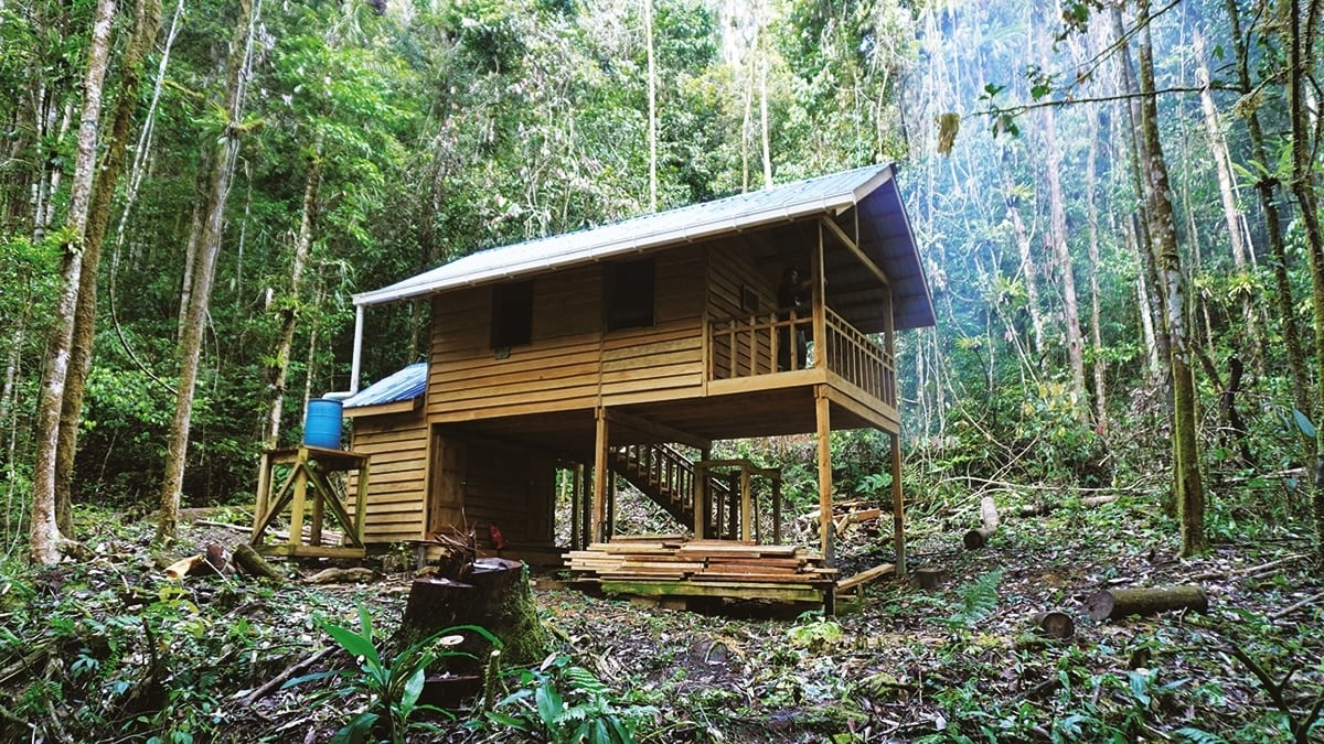 One of the five eco-shelters along the Kelabit ancestral trail