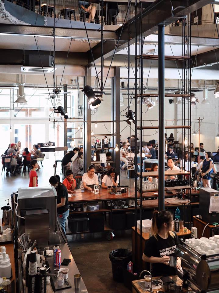 Beautiful industrial-chic decor of Bean Brothers located at Sunway Damansara.