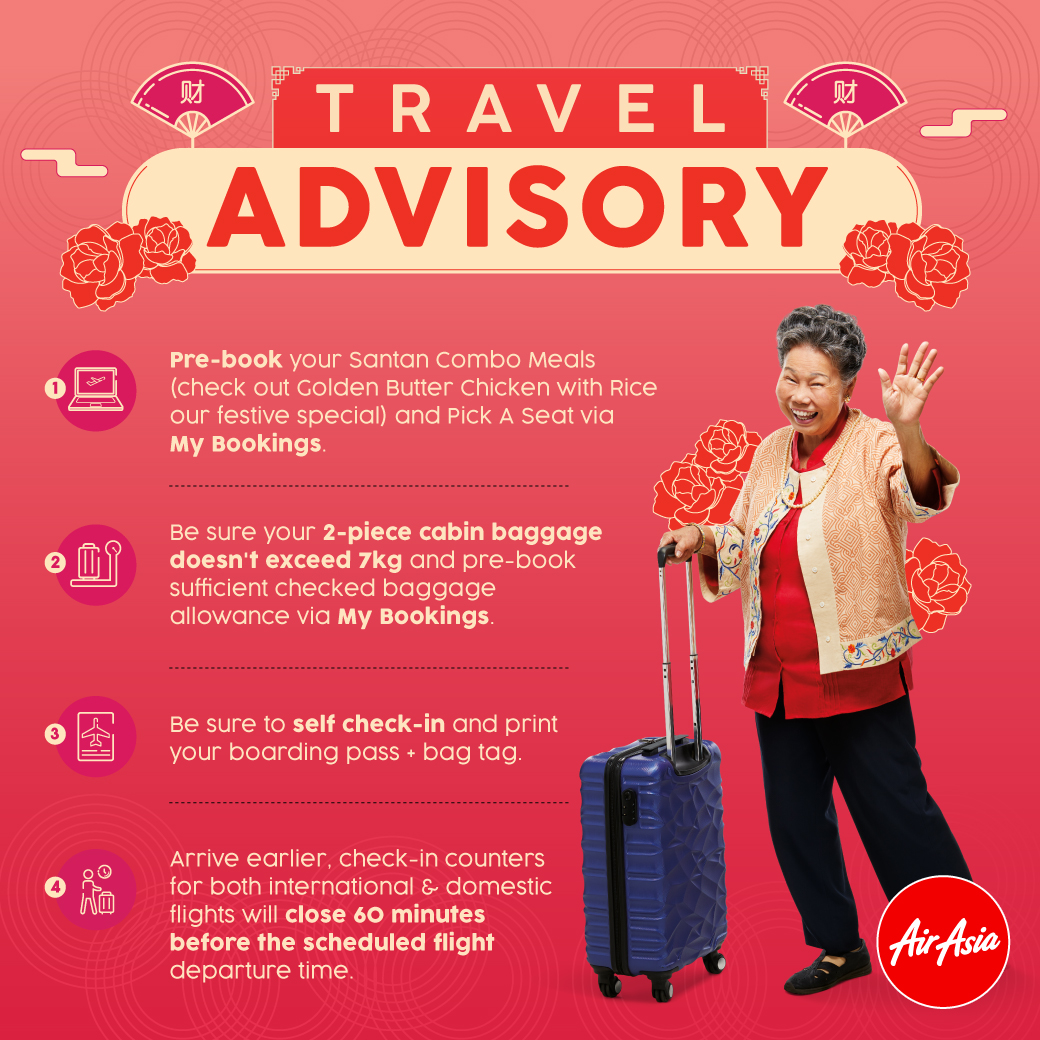 AirAsia travel tips for Chinese New Year holidays