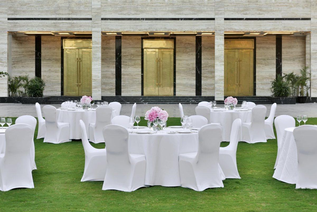 Ren Garden being set up for reception