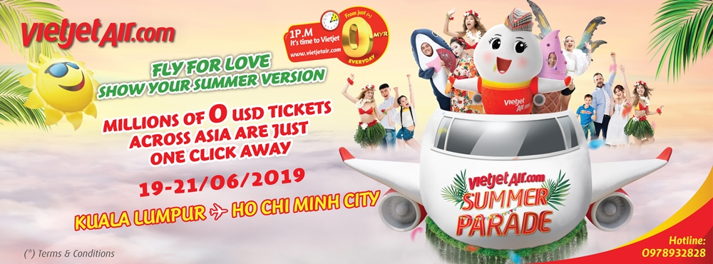 Log on to www.vietjetair.com now and grab yourself tickets to Ho Chi Minh City priced from only MYR0!