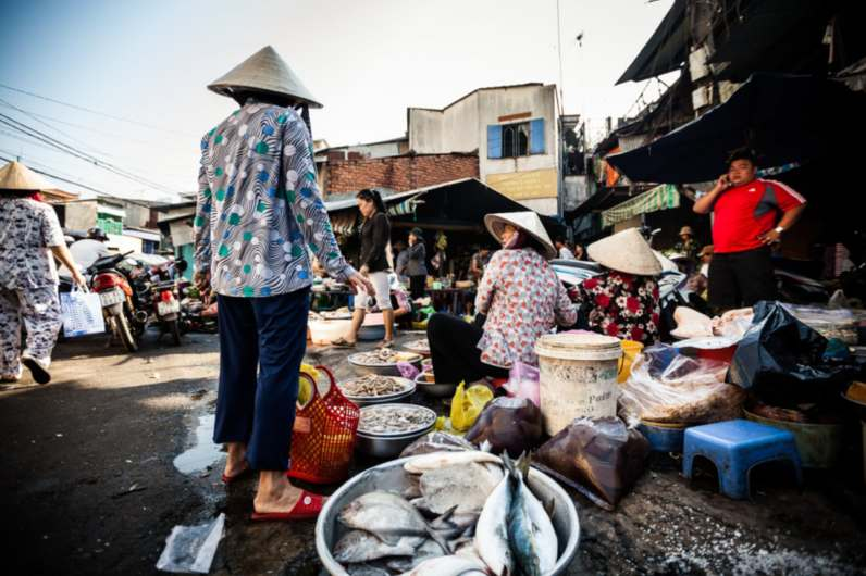 Morning market in full swing. Photo © Vietnam National Administration of Tourism