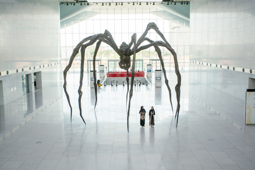 Maman in Qatar's National Convention Centre. Photo by https://www.qm.org.qa/en