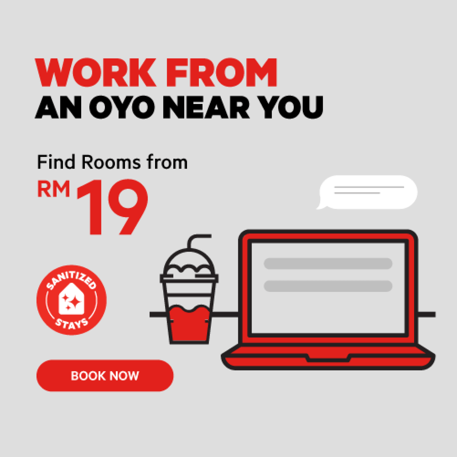 OYO Work From Hotel Poster