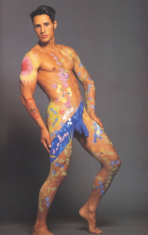 Naked Male Body Painting