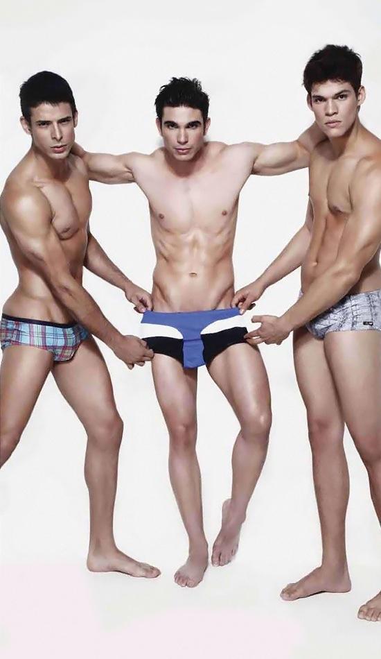 Ariel Iglesias, Jefferson Lopes and Thiago Bergamasco - in underwear