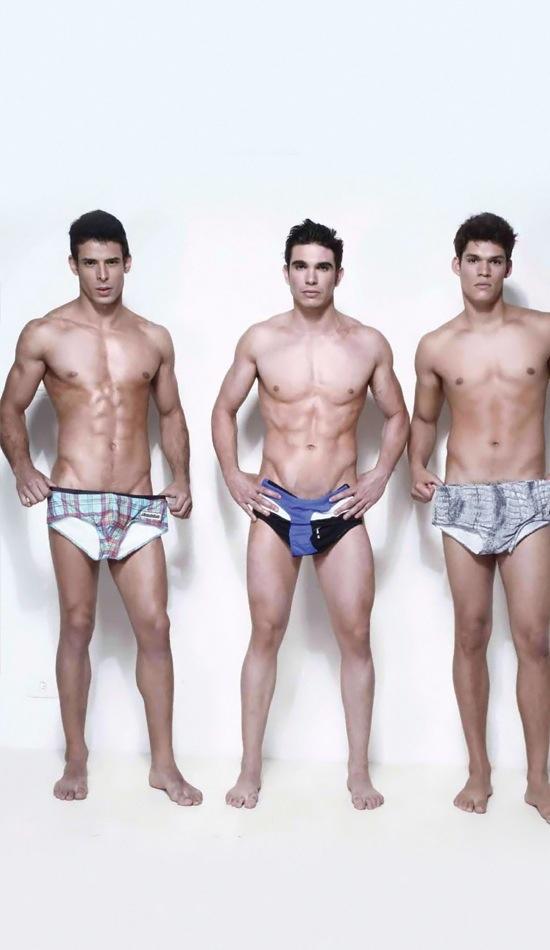 Ariel Iglesias, Jefferson Lopes and Thiago Bergamasco - naked